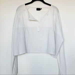 UO Out from Under Cropped Long Sleeve Sweater
